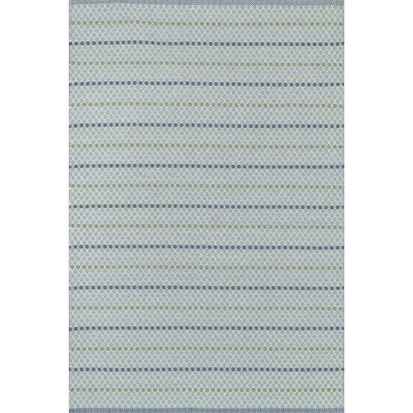Indoor/ Outdoor Earth Tone Flatweave Mediterranean Stripe Rug (5'0 x 7'6)