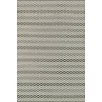 Indoor/ Outdoor Earth Tone Flatweave Steel Stripe Rug (9'3 X 13')