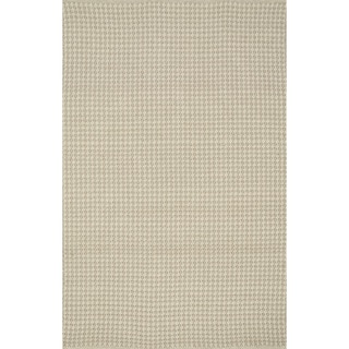 Indoor/ Outdoor Earth Tone Flatweave Oatmeal Rug (3'6 x 5'6)