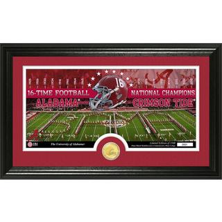 University of Alabama 16-time Football National Champions Bronze Coin Pano Photo Mint