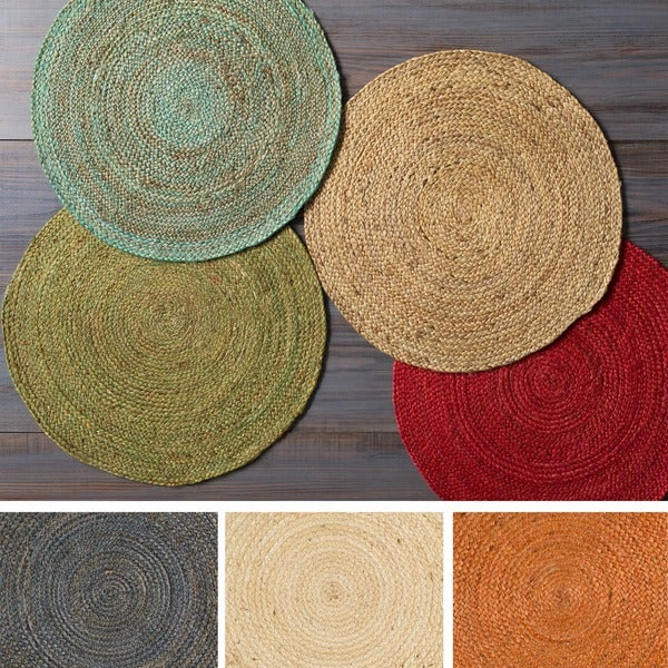 Hand Woven Camino Jute Area Rug 8 Round Free Shipping