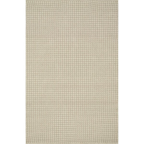 Indoor/ Outdoor Earth Tone Flatweave Oatmeal Rug - 5' x 7'6