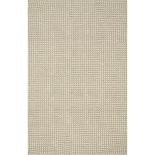 Indoor/ Outdoor Earth Tone Flatweave Oatmeal Rug (5'0 x 7'6)