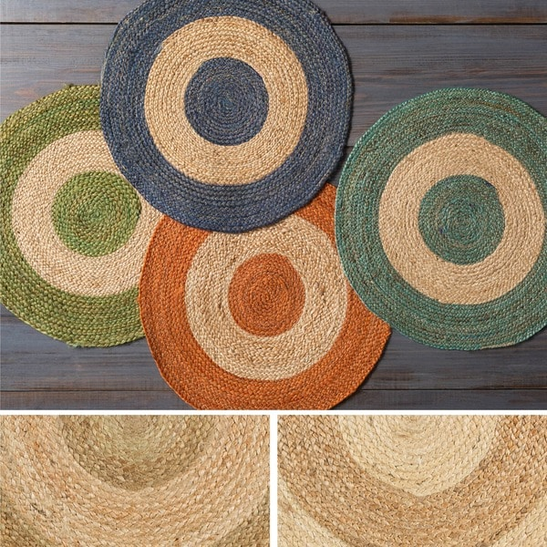 Hand-Woven Canada Jute Area Rug (5' Round)