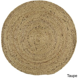 Hand-Woven Camino Jute Area Rug (3' Round) (2 options available)
