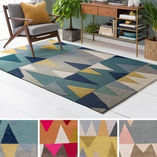 Palm Canyon Quetzal Hand-tufted Wool Area Rug - 2' x 3'