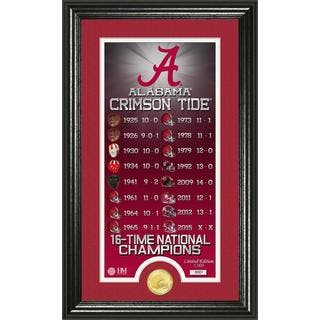 """University of Alabama 16-time Football National Champions """"Legacy"""" Minted Coin Photo Mint