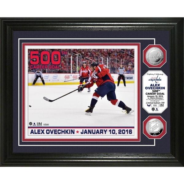 "Alex Ovechkin ""500th Career Goal"" Silver Coin Photo Mint"