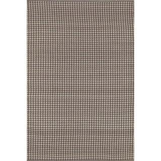 Indoor/ Outdoor Earth Tone Flatweave Brick Rug (2'3 x 3'9)