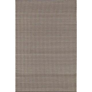 Indoor/ Outdoor Earth Tone Flatweave Brick Rug (5'0 x 7'6)