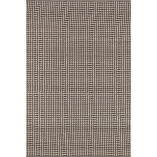 Indoor/ Outdoor Earth Tone Flatweave Brick Rug (7'6 x 9'6)