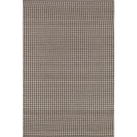 Indoor/ Outdoor Earth Tone Flatweave Brick Rug - 7'6 x 9'6