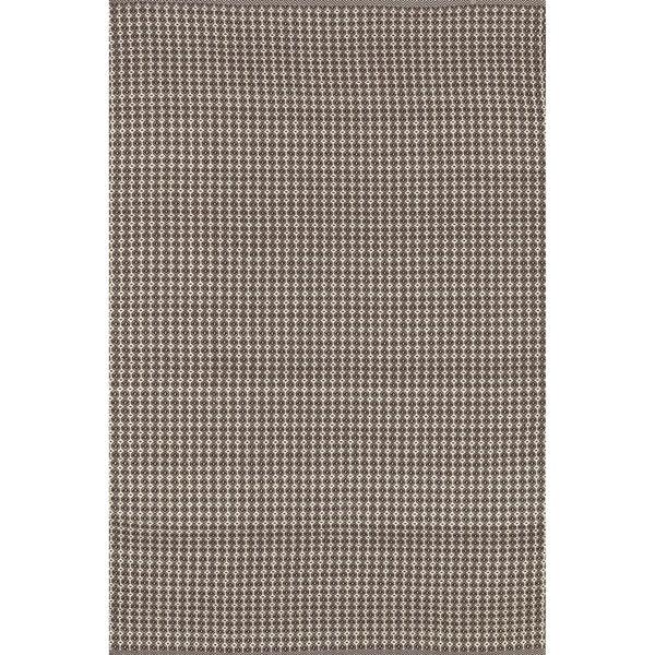 Indoor/ Outdoor Earth Tone Flatweave Brick Rug - 9'3 X 13'