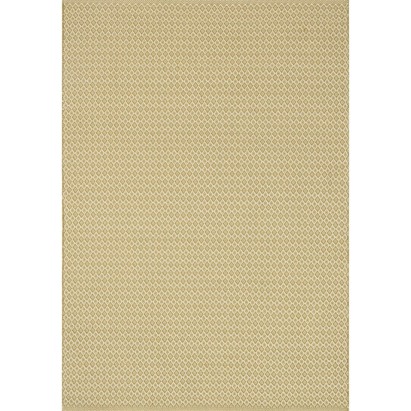 Indoor/ Outdoor Earth Tone Flatweave Goldenrod Rug