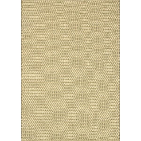 Indoor/ Outdoor Earth Tone Flatweave Goldenrod Rug - 9'3 X 13'