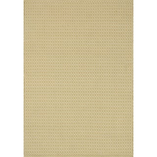 Indoor/ Outdoor Earth Tone Flatweave Goldenrod Rug (9'3 X 13')
