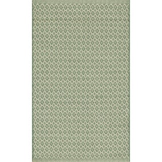 Indoor/ Outdoor Earth Tone Flatweave Jade Rug (2'3 x 3'9)