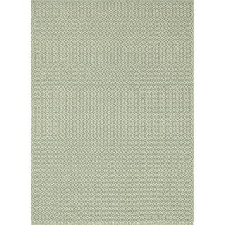 Indoor/ Outdoor Earth Tone Flatweave Jade Rug (7'6 x 9'6)
