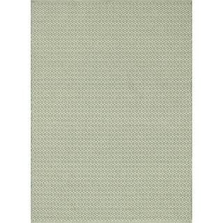Indoor/ Outdoor Earth Tone Flatweave Jade Rug (9'3 X 13')