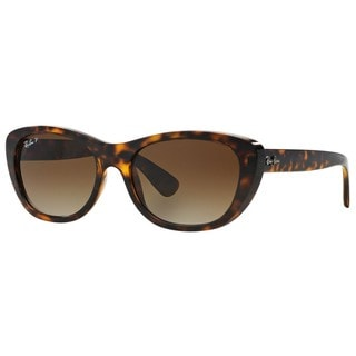Ray-Ban RB4227 710/T5 Female Tortoise Frame Polarized Brown Gradient 55mm Lens Sunglasses