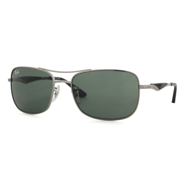 0fac1d36fc Shop Ray-Ban RB3515 004 71 Men s Gunmetal Frame Green Classic 58mm ...