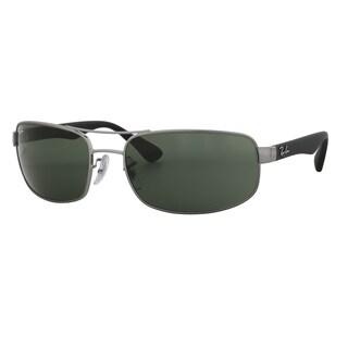 Ray-Ban RB3445 004 Men's Gunmetal/Black Frame Green Classic 61mm Lens Sunglasses