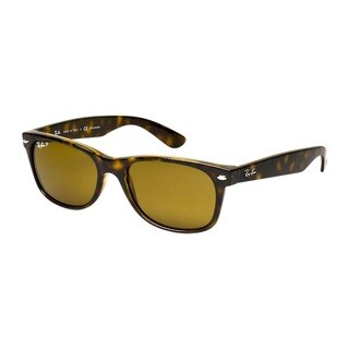 Ray-Ban RB2132 902/57 Unisex New Wayfarer Classic Tortoise Frame Polarized Brown 55mm Lens Sunglasses