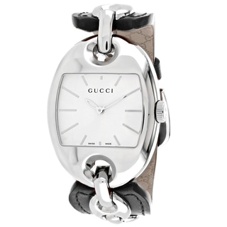 Gucci Women's YA121312 Marina Tonneau Dark Brown Leather Strap Watch
