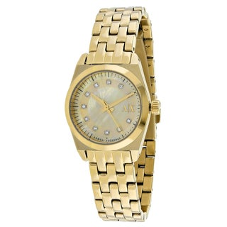 Armani Exchange Women's AX5331 Miss Jackson Round Gold Tone Stainless Steel Bracelet Watch