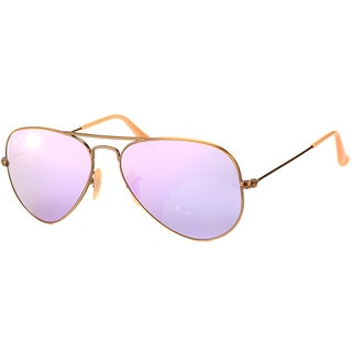 Ray-Ban RB3025 167/4K 58mm Lilac Mirror Lenses Copper Frame Men's Sunglasses