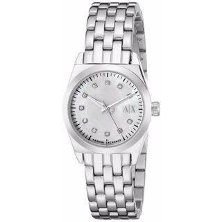 Armani Exchange Women's AX5330 Miss Jackson White MOP Watch|https://ak1.ostkcdn.com/images/products/11118612/P18120769.jpg?impolicy=medium