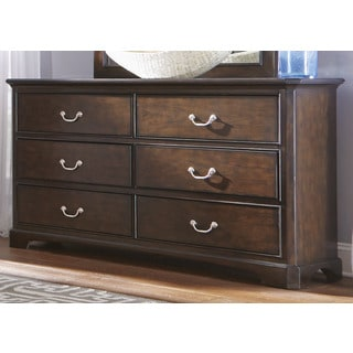 Avington Dark Cognac 6-Drawer Dresser