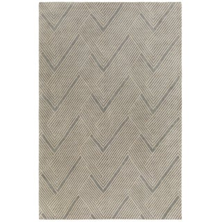 Hand-Knotted Beijing Wool/Cotton Rug (2' x 3')