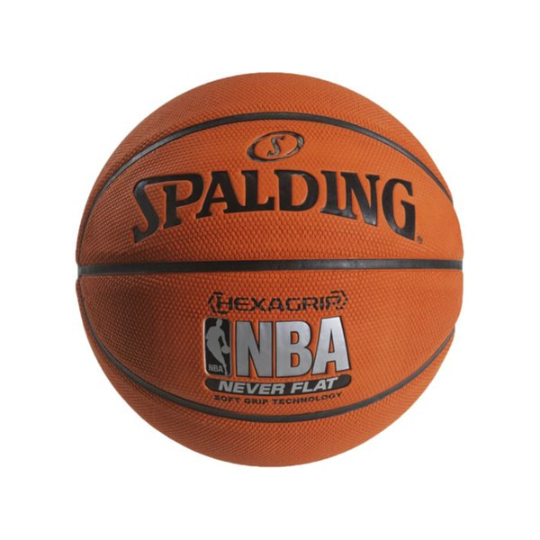 Spalding Neverflat Hexagrip Indoor/OutdoorSoft Grip - 28.5-Inches