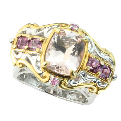 One-of-a-kind Michael Valitutti Morganite, Rhodolite & Pink Sapphire Ring