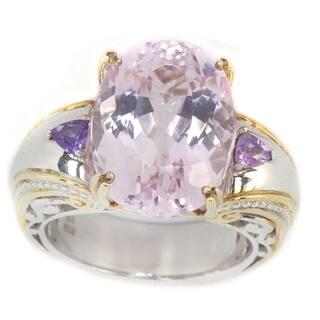 Michael Valitutti Kunzite & Amethyst Ring|https://ak1.ostkcdn.com/images/products/11118637/P18120783.jpg?impolicy=medium