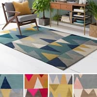 Hand-Tufted Country Wool Area Rug - 9' x 13'