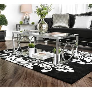 glass tables for living room. Furniture of America Mishie Contemporary Glass Top Coffee Table  Console Sofa End Tables For Less Overstock com