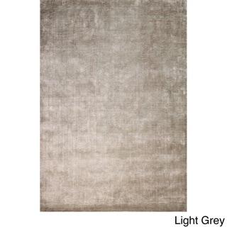 Hand-Loomed Broome Linen/ Viscose Area Rug (8 x 10 - Light Grey)