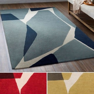 Strick & Bolton Don Hand-tufted Abstract Wool Area Rug - 5' x 7'6