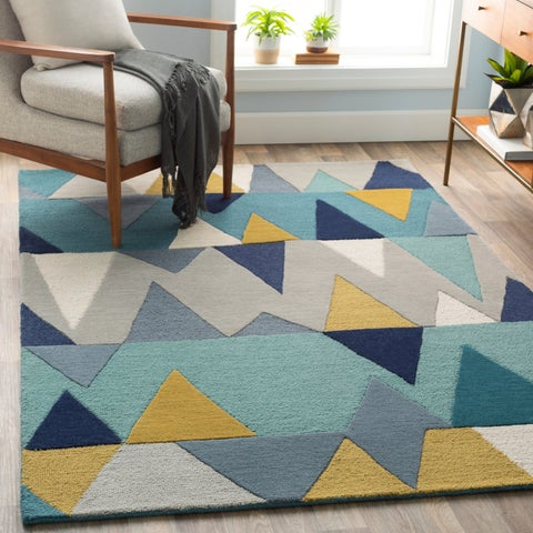 Hand-Tufted Country Wool Area Rug - 5' x 7'6""