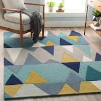 Country Wool Handmade Area Rug (5' x 7'6)