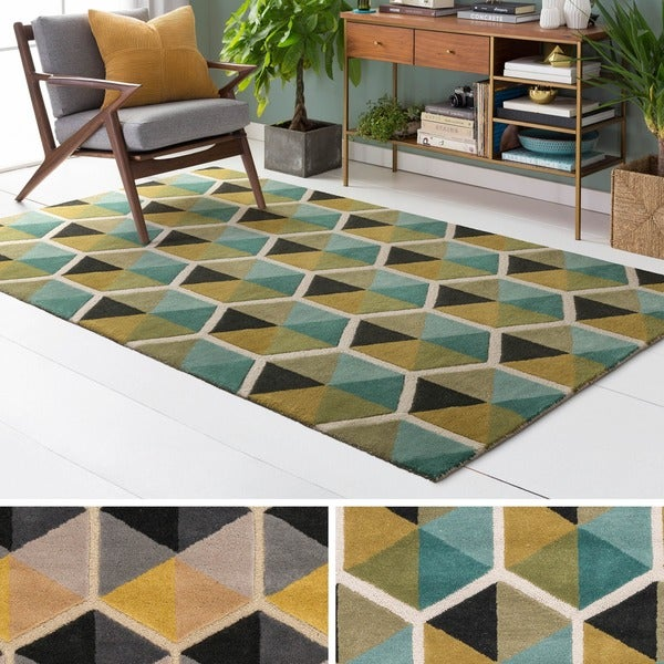 Hand-Tufted Cory Wool Area Rug - 5' x 7'6""