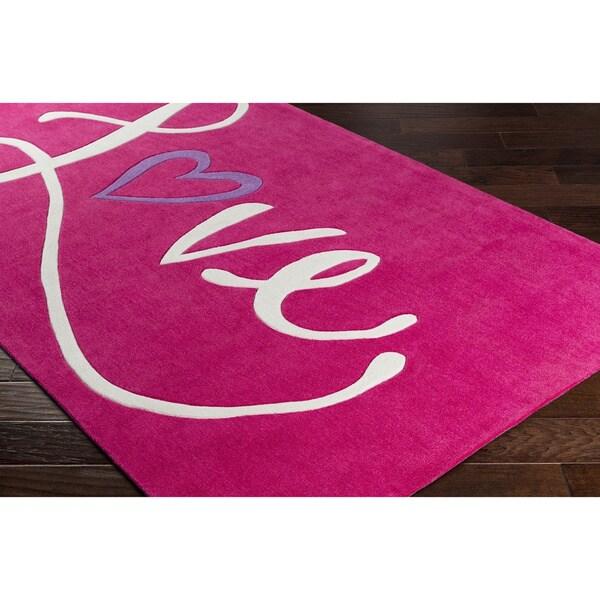 Hand-Tufted Chee Poly Acrylic Area Rug (3' x 5') - 3' x 5'