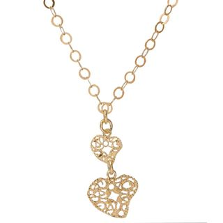 Pori 18k Goldplated Sterling Silver Fancy Hearts Necklace