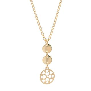 Pori 18k Yellow Goldplated Sterling Silver Hearts and Circles Charm Necklace