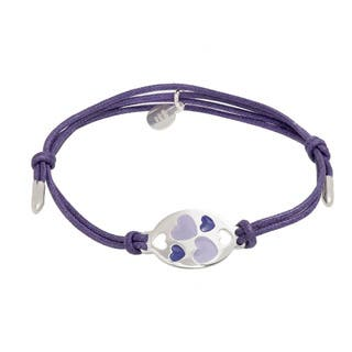 Pori Sterling Silver Oval Charm Enamel Hearts Leather Adjustable Bracelet|https://ak1.ostkcdn.com/images/products/11118821/P18120867.jpg?impolicy=medium