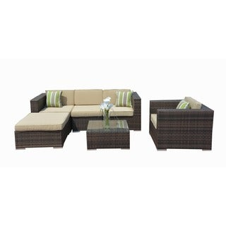 Jasmine 3-piece Wicker Indoor/ Outdoor Sectional Sofa and Table