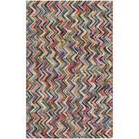 "Hand-Woven Cabrini Wool Area Rug - 5' x 7'6"""