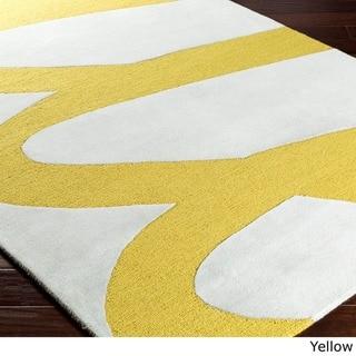 Hand-Tufted Creek Wool Area Rug (4 x 6 - Yellow)